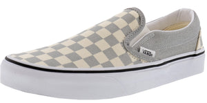 ,True White 07,,Black/White Checkerboard,,Black,,Black/Black09,,(Checkerboard)Gldnhztrwht,,(Checkerboard)Blmirgtrwht, Vans Unisex Walking Skate Shoes Vulcanized Rubber Classic Slip On
