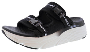 ,White Multi WMMLT, Skechers Women Lightweight Wedge Sandals Max Cushioning Obvi
