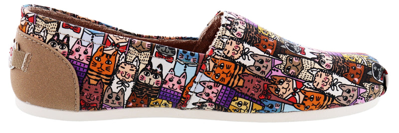 Skechers Women Bobs Plush Uptown Kitty Memory Foam Flats