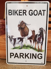 Load image into Gallery viewer, Metal Goat Parking Sign