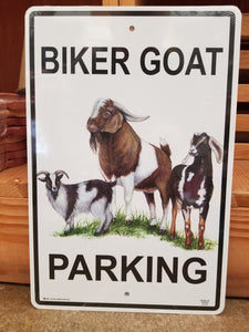 Metal Goat Parking Sign
