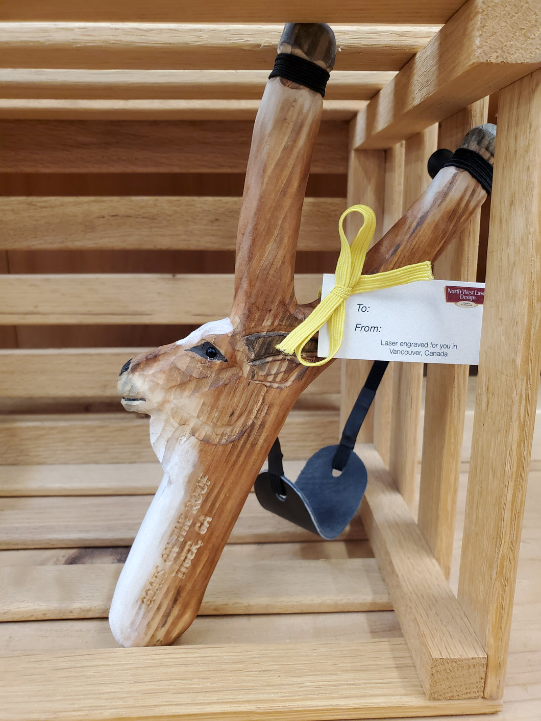 Sling Shot Wooden Goat