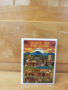 Magnet Goats on the Roof Action