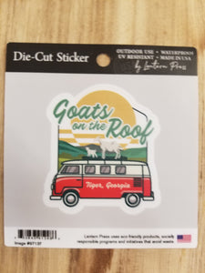 Die Cut Sticker Goats on the Bus