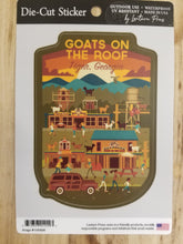 Load image into Gallery viewer, Die Cut Sticker Goats on the Roof Action