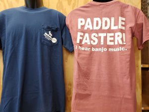 T-Shirt Pocket Paddle Faster