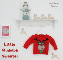 Load image into Gallery viewer, little rudolph sweater jane burns