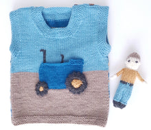 Load image into Gallery viewer, jane burns tractor tank top knit pattern