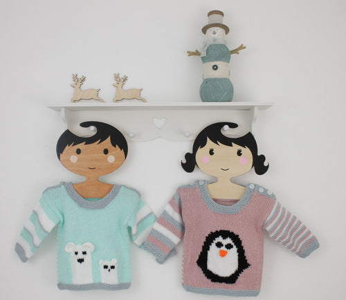 baby penguin and polar bear sweater jane burns