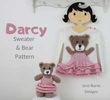 Load image into Gallery viewer, Darcy Sweater and Bear Toy Jane Burns