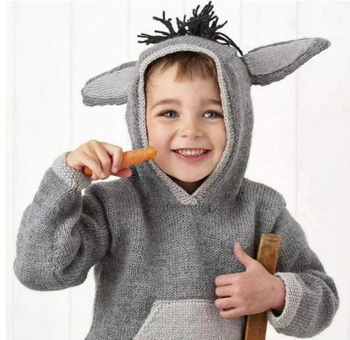 Donkey Hoodie Jane Burns Knitting Pattern