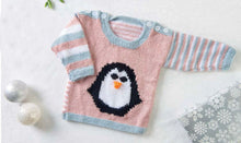 Load image into Gallery viewer, baby penguin and polar bear sweater jane burns