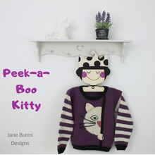 Load image into Gallery viewer, Peek a Boo Kitty Sweater