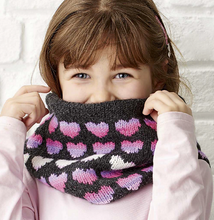 Load image into Gallery viewer, Love Heart Sweater & Cowl Set