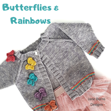 Load image into Gallery viewer, Butterflies and Rainbows Cardigan
