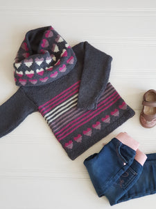 Love Heart Sweater & Cowl Set