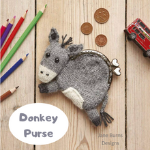 Load image into Gallery viewer, Donkey Purse Pattern Jane Burns