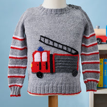 Load image into Gallery viewer, fire engine sweater call the brigade jane burns