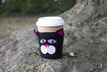 Load image into Gallery viewer, Black Cat Cup Cosy