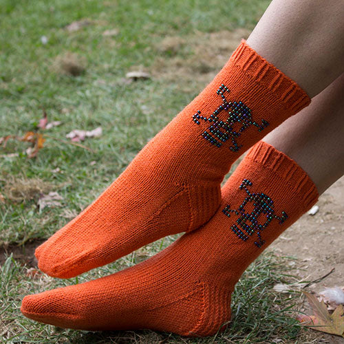 Not just for Halloween Skully Socks