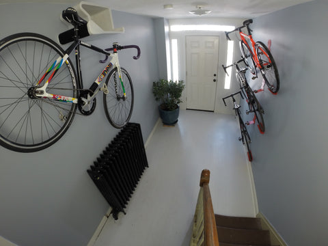 So many ways to hang a bike.