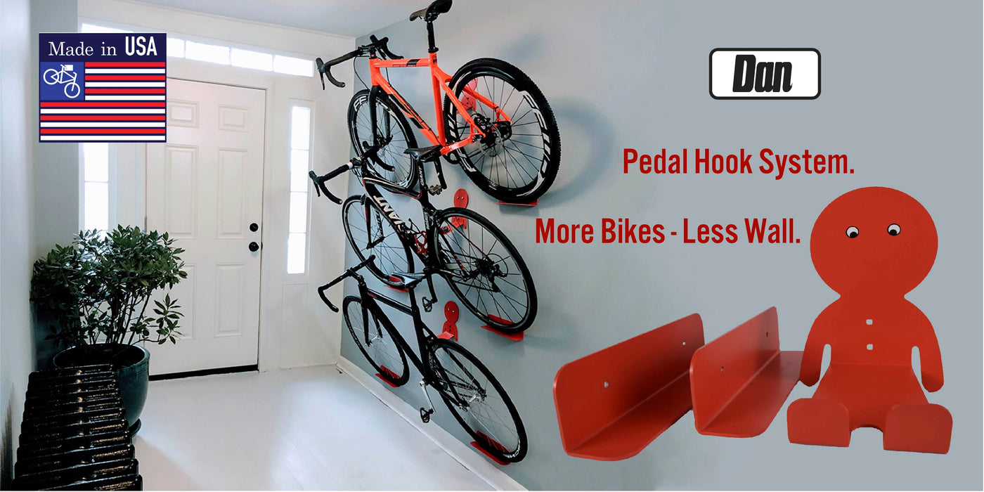 Bike Wall Mount Storage Rack For Garage /& Home Bicycle Hanger Hanging 4 Bicycles
