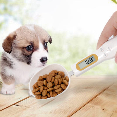 New Pet Food Scale Cup For Dog Cat Feeding Bowl Kitchen Scale Spoon Measuring Scoop Cup Portable With LED Display