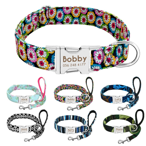 Personalized Dog Collar Leash