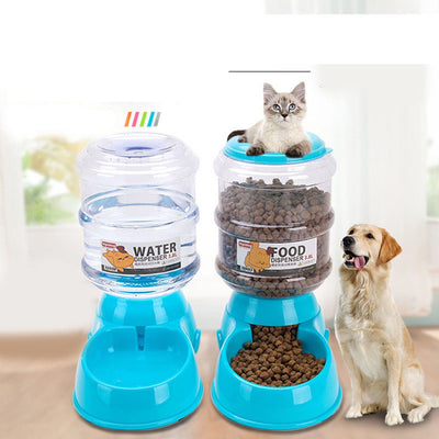 New 3.8L Pet Automatic Feeder Dog Cat Drinking Bowl For Dog Water Drinking Cat Feeding Large Capacity Dispenser Pet Cat Dog
