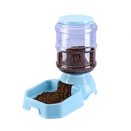 1Pc practical 3.8L Automatic Pet Feeder Large Capacity Water Food Holder Dog Drinking Bowl Pet Supply Accessories