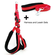 Dog Harness Vest Leash Polka Dot Breathable Mesh Pet Produts Adjustbale Outdoor Walking Leash Dog Collar for Medium Large Dogs