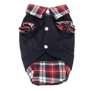 Pet Dog Cat plaid Shirt