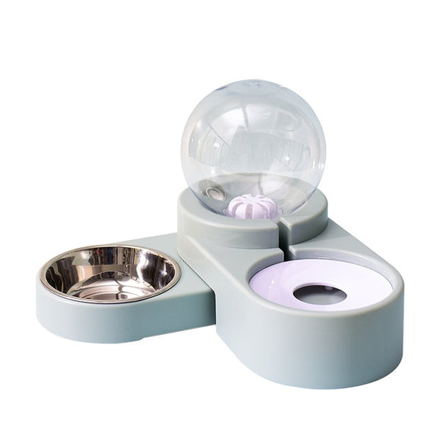 Bubble Pet Bowls Dog bowls Cat Food Automatic Feeder 1.8L Fountain for Water Drinking Large Bowl Dog Kitten Feeding Container