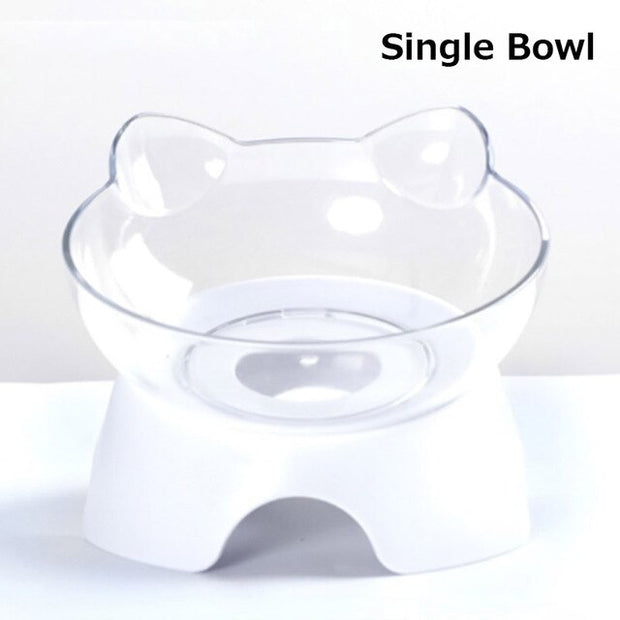 Anti-Vomiting Orthopedic Pet Bowl Cat Dog Food Water Feeder Feeding Dishes VJ-Drop