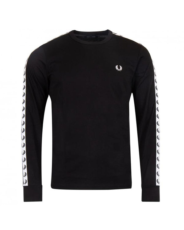 TAPED LONG SLEEVE T-SHIRT           BLACK