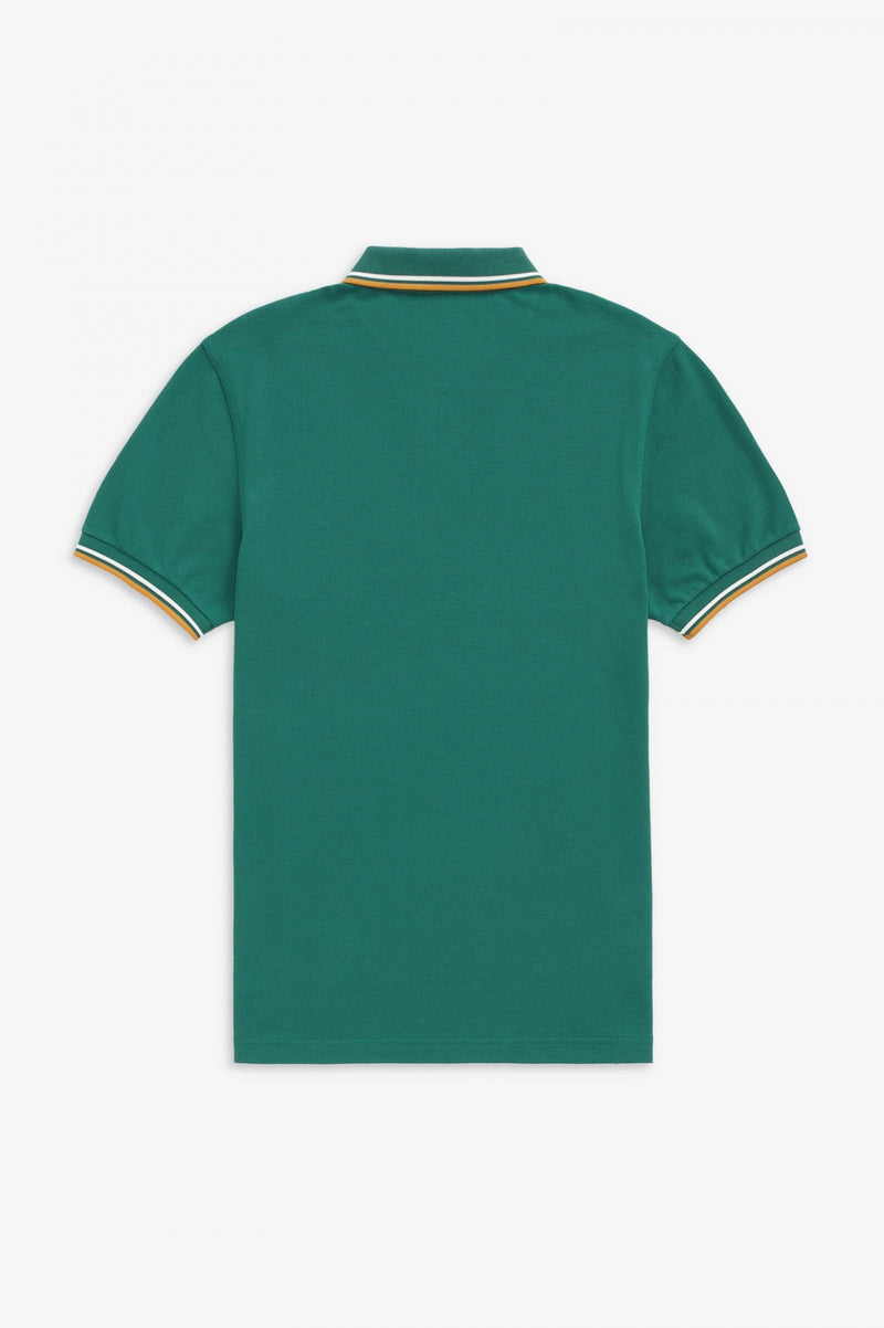 TWIN TIPPED FRED PERRY SHIRT        LIGHT PETROL