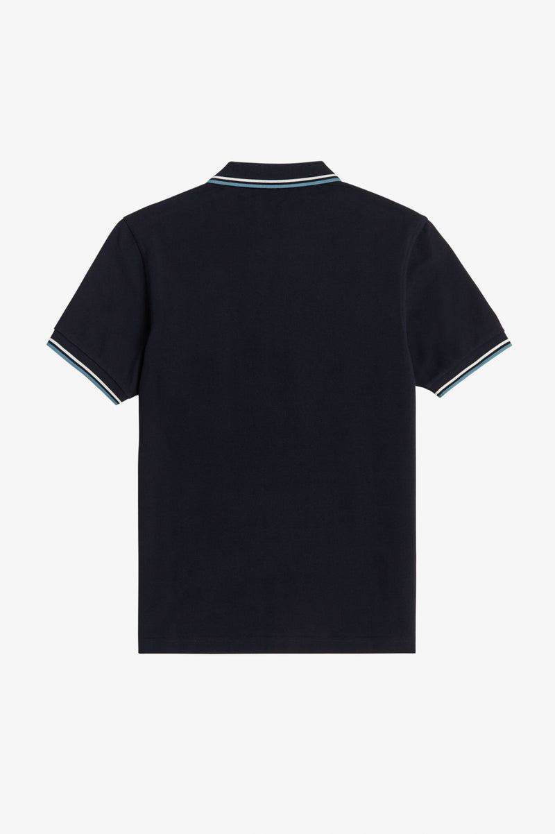 TWIN TIPPED FRED PERRY SHIRT        NVY/SNW/SMOKEBLU