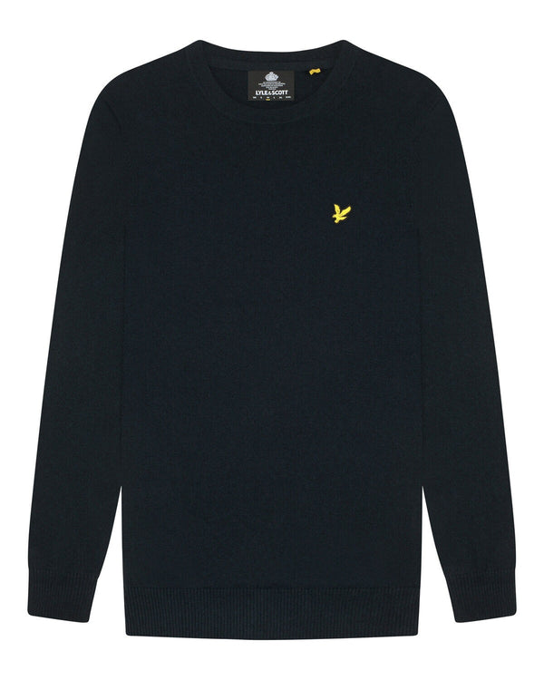 Cotton Merino Crew Jumper           Dark Navy