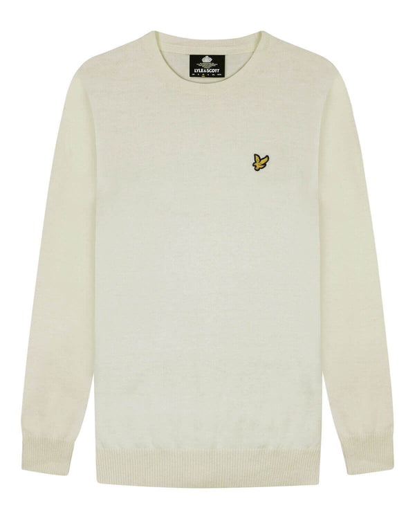 Cotton Merino Crew Jumper           Vanilla Ice