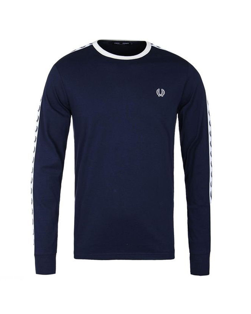 TAPED LONG SLEEVE T-SHIRT           CARBON BLUE