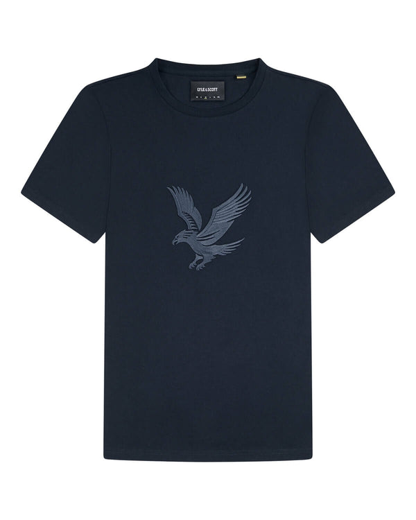 Embroidered Eagle Tshirt            Dark Navy