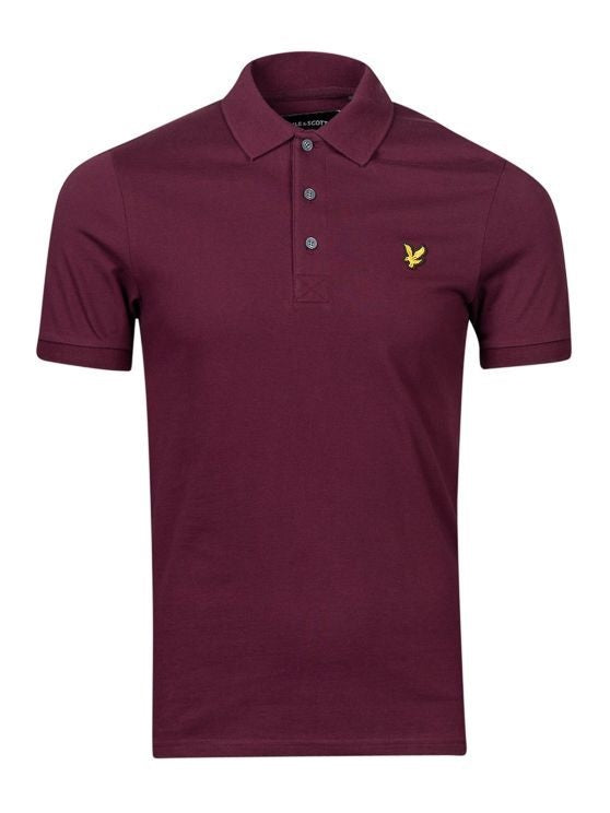 Slim Stretch Polo Shirt             Burgundy