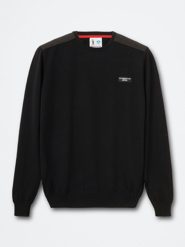 HOWICK ROUND NECK 12 GG             BLACK