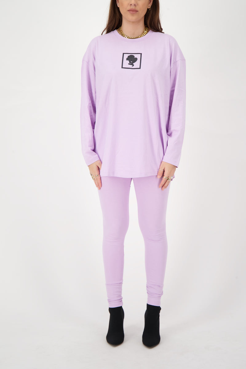 HEADLOGO SQUARE T-SHIRT LONG SLEEVE Orchid Bloom