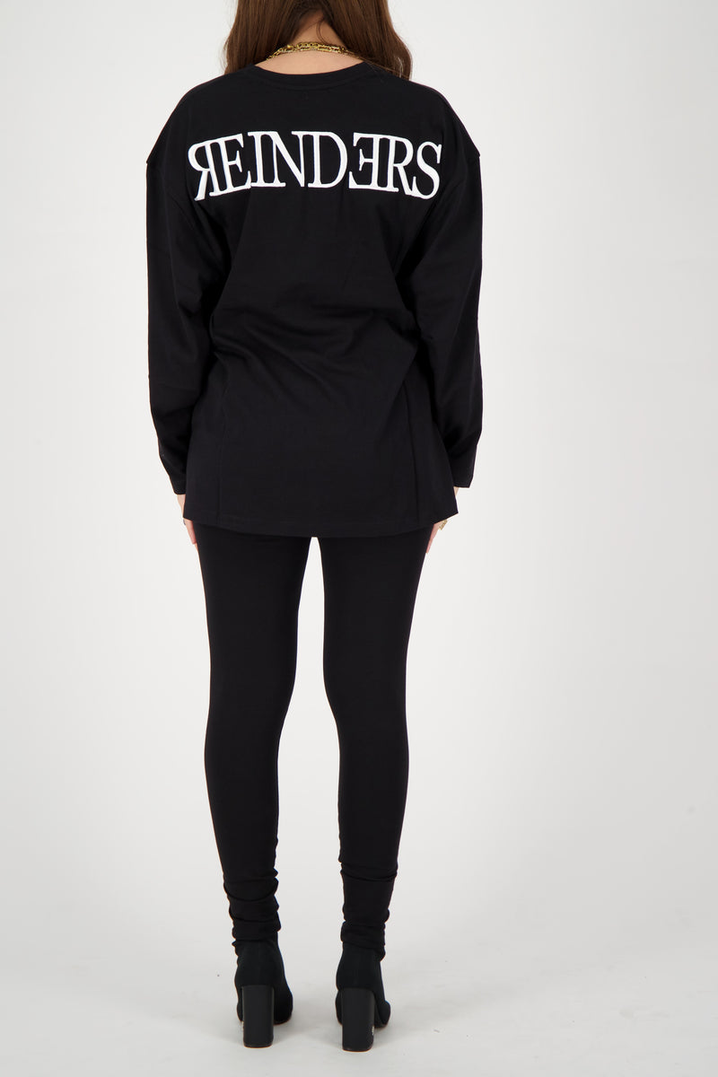 HEADLOGO SQUARE T-SHIRT LONG SLEEVE True Black