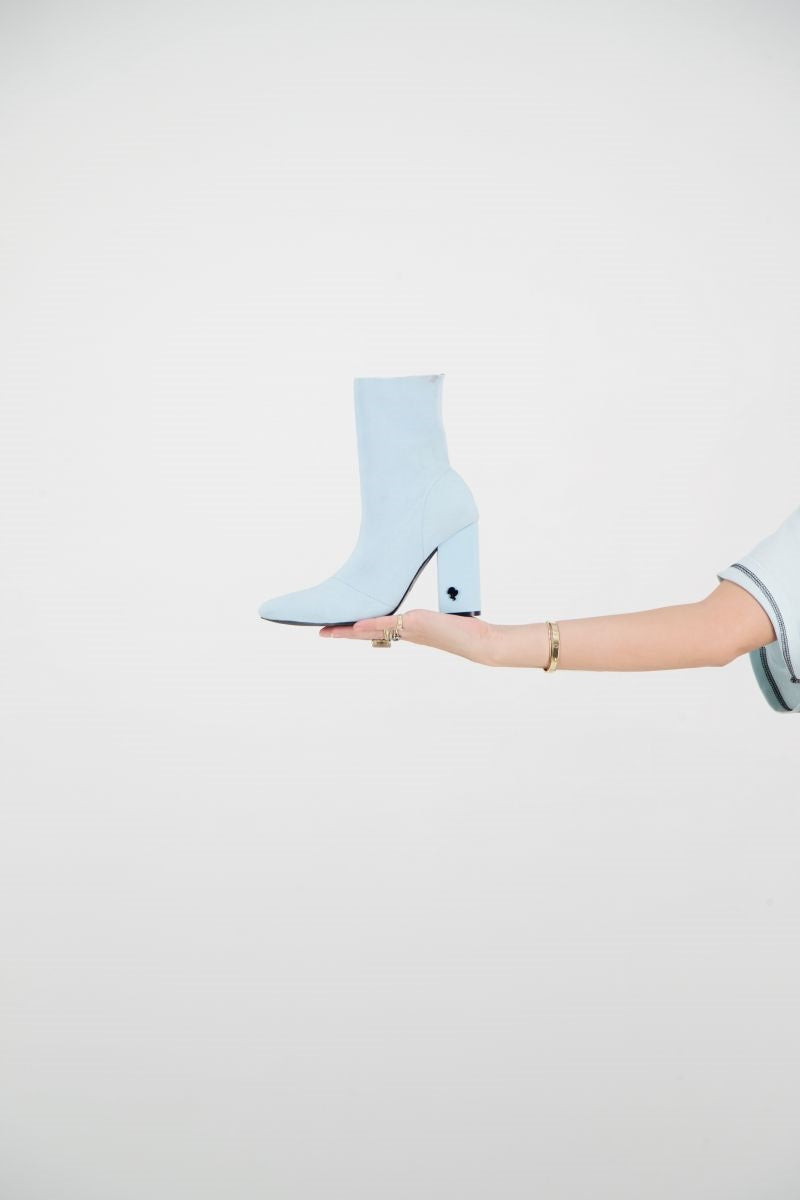 REINDERS SOCKS ANKLE BOOTS          Baby Blue