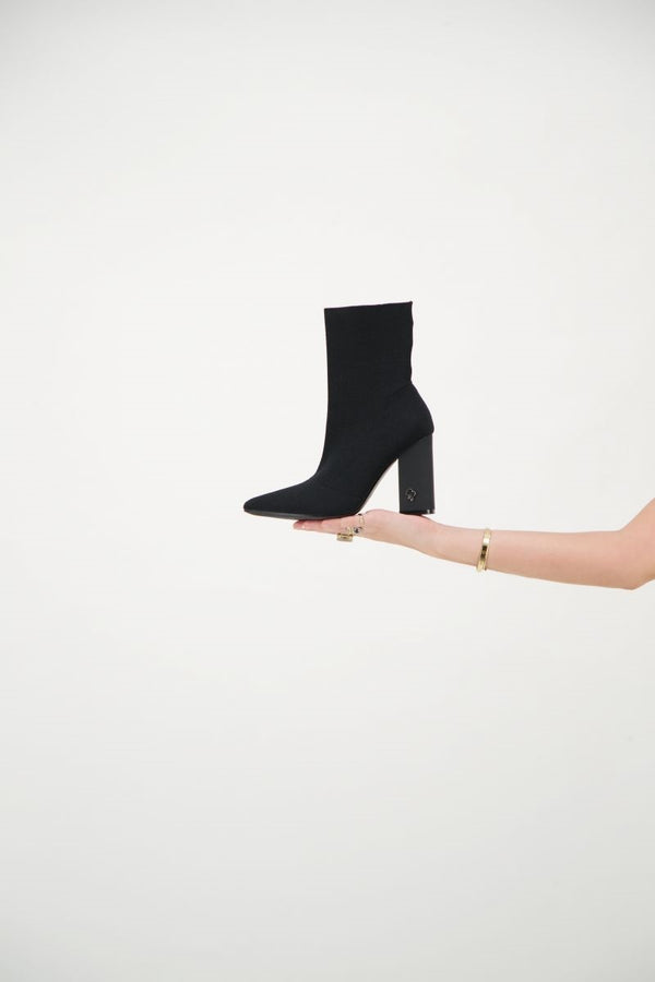 REINDERS SOCKS ANKLE BOOTS          True Black
