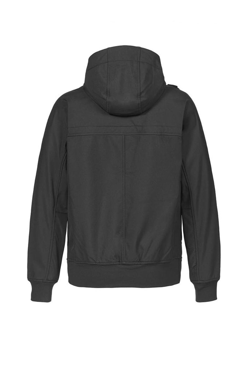 FULL ZIP HOODED SOFTSHELL           JET BLACK