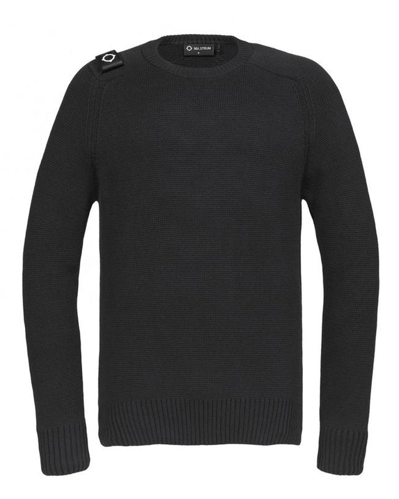 MILANO KNIT CREW NECK               JET BLACK