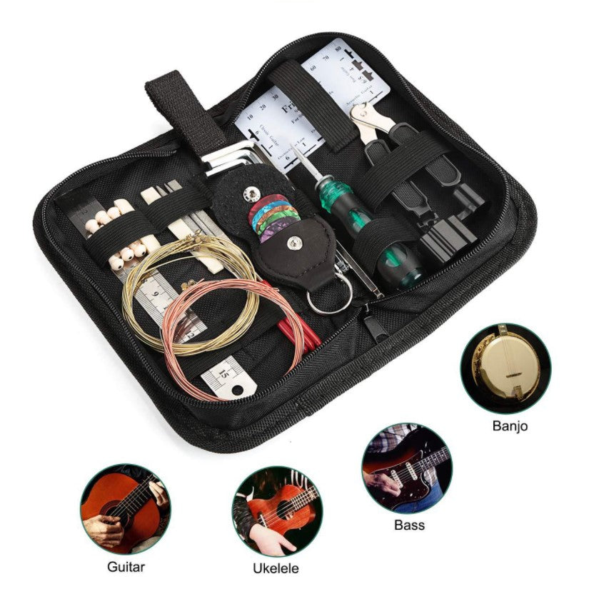 Hricane 14 in 1 Guitar Repair kit Maintenance Cleaning Tool Kit With Commoon Bag